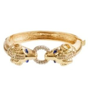 J.Crew Metallic Ram Bangle